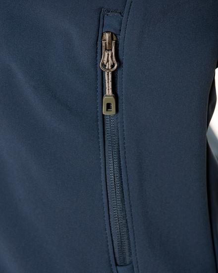 Navy Blue Men's Oxford Soft Shell Jacket