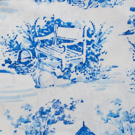 Blue Willow Poppy Scrub Hat