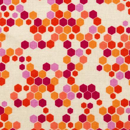 Hexagon Bliss Poppy Scrub Hat