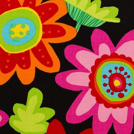 Women's Scrubs Hats Vibrant Blooms Pixie