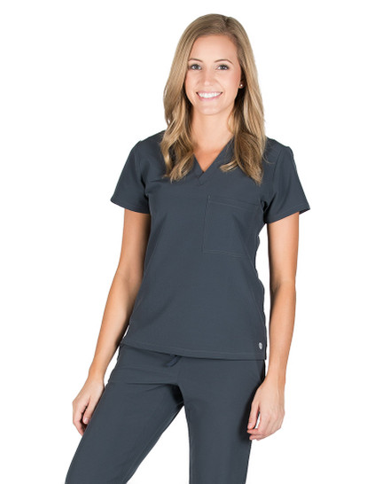 Pewter Emerson Technical Scrub Top