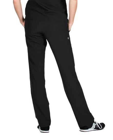Black Riley Technical Scrub Pant