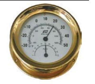 "Plastimo 5"" Thermometer-Hygrometer Sealed"