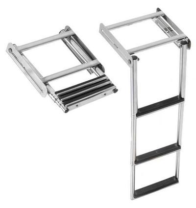 RWB Ladder Stainless Steel Retractable Under Platform 2 Step/3 Step