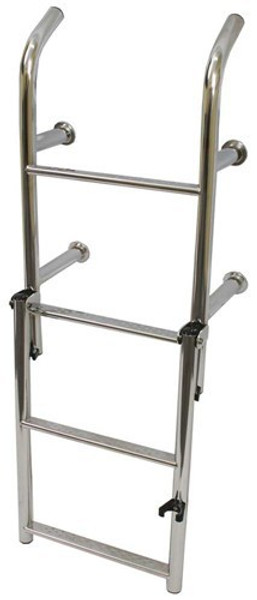 RWB Stainless Steel Open Top Standard Ladders 4 Rung Angled Legs/Straight Legs