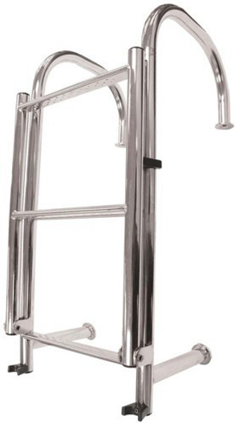 RWB Stainless Steel 4 Step Angled Ladder