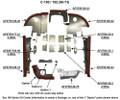 Cessna 182 Engine Baffles. Cessna 0750117-31, 0750135-1, 0750135-3, 0750135-4, 0750152-1, 0750152-2, 0755001-21, 0755001-24, 0755001-30, 0755004-2, 0755004-3, 0755004-6, 0755004-9, 0755005-9, 0755007-1, 07550059-1, 0755010-1, 0755011-1, 0755012-2, 0755040-1, 0755040-2, 0755040-3,  0851700-96, 1250961-5, 1250961-6, 1250961-7