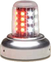 "Whelen 9052005 LED Beacon 3 3/4"" Base Red/White 28VDC"