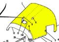 Cowl Assy Upper. Cessna 180. 1965 Thru 68. Cessna Part 0752031-205. K2U Part 047-SC180203-1 (Camloc Attachment)