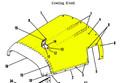 Cowl Assy Upper. Cessna 180. 1969 thru 81. Cessna Part 0752031-84 & 0752031-208. K2U Part 047-SC180204-1 (Camloc Attachment)