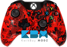 Custom Red Digital Camo Xbox One Controller