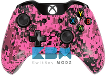 Custom Pink Digital Camo Xbox One Controller