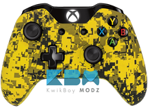 Custom Yellow Digital Camo Xbox One Controller