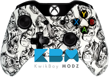 Custom White Zombies Xbox One Controller