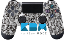 White Zombies Custom PS4 Controller