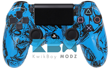 Blue Zombies Custom PS4 Controller
