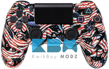 Custom American Flag PS4 Controller