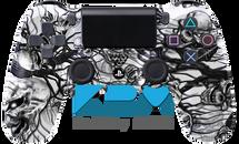 Custom White Mr.Creepy PS4 Controller