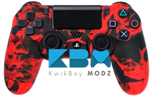 Custom Red Inferno PS4 Controller