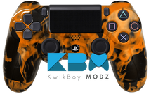 Custom Orange Inferno PS4 Controller
