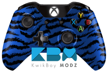 Tiger Camo Xbox One Controller - Blue