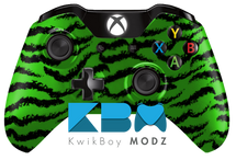 Tiger Camo Xbox One Controller - Green