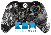 Mr.Creepy Skulls Xbox One Controller - White