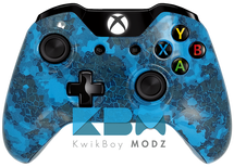 Custom Blue Defected Xbox One Controller