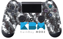 White Defected Custom PS4 Controller