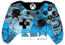 Custom Blue Mr.Creepy Xbox One Controller