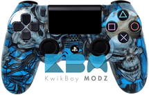 Custom Blue Mr.Creepy PS4 Controller