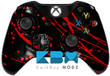 Black Blood Splatter Xbox One Controller