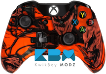 Mr.Creepy Skulls Neon Orange Xbox One Controller
