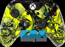 Mr.Creepy Skulls Neon Yellow Xbox One Controller