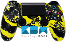 Yellow Splatter Custom PS4 Controller