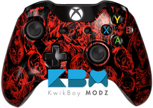 Reverse Red Zomibes Xbox One Controller - KwikBoy Modz