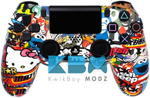 Custom Sticker Bomb V2 PS4 Controller