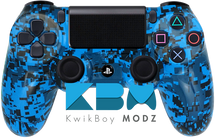 Blue Digi Camo Custom PS4 Controller