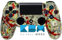 Blood Money Custom PS4 Controller