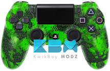 Custom Green Defected PS4 Controller