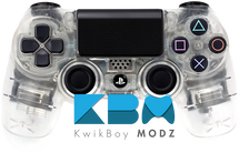 Custom Clear PS4 Controller