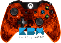 Custom Orange Camotech Xbox One Controller
