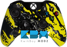 Custom Yellow Splatter Xbox One Controller