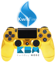 KwikFire Modded Gold Chrome PS4 Controller