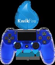 KwikFire Modded Blue Chrome PS4 Controller
