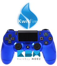 KwikFire Modded Blue Chrome PS4 Controller