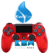 KwikFire Modded Red Chrome PS4 Controller