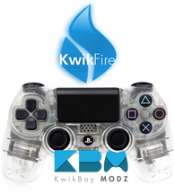 KwikFire Modded Clear PS4 Controller