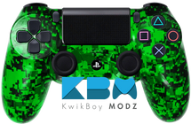 Custom Green Digital Camo PS4 Controller