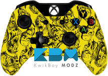Custom Yellow Zombies Xbox One Controller